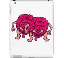 2 raspberries face monster comic cartoon funny cheeky team buddies iPad Case/Skin