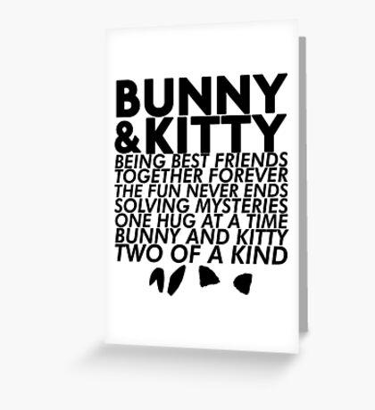 Bunny & Kitty Greeting Card