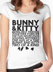 Bunny & Kitty Women's Fitted Scoop T-Shirt
