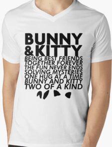 Bunny & Kitty Mens V-Neck T-Shirt