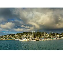 Early Morning After the Rain, at Evans Bay Marina Photographic Print