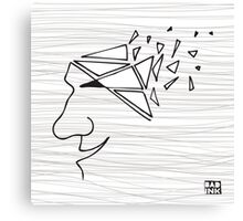 Broken Head (wall art) Canvas Print