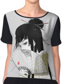 Creepy Geisha Chiffon Top