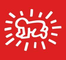 "Baby Pop Art "" Keith Haring"" One Piece - Short Sleeve"