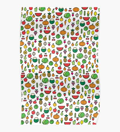fruits & vegetables Poster