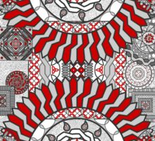 Concentric Collage Sticker