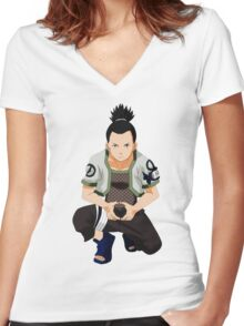 Shikamaru Women's Fitted V-Neck T-Shirt