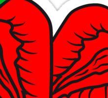 2 strawberry half cut delicious food halves Sticker