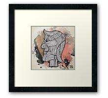 Tribal Head (wall art) Framed Print