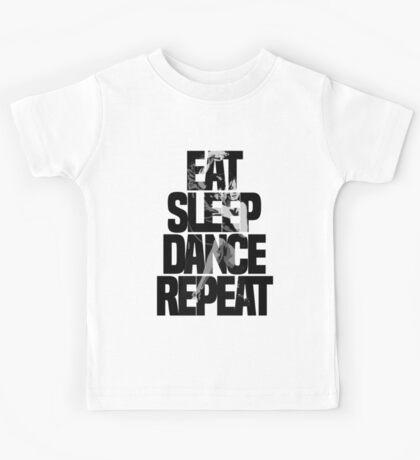 Dance - Eat sleep dance repeat Kids Tee