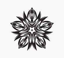 Ornate Black and White Star Unisex T-Shirt