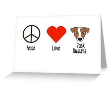 Peace, Love & Jack Russells Greeting Card