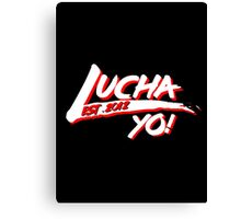 Lucha Yo! Back to the 80's Canvas Print