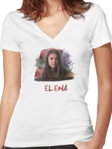 Elena - The Vampire Diaries Women's Fitted V-Neck T-Shirt