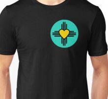Turquoise Zia Heart Unisex T-Shirt