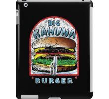Big KAHUNA Burger - Distressed Variant iPad Case/Skin