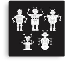 androids b&w Canvas Print