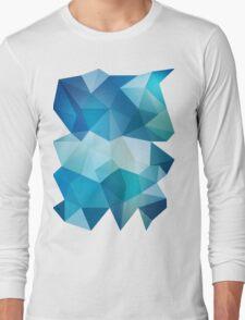 Abstract Geometric Polygon Sea Long Sleeve T-Shirt