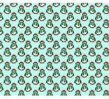 Green Christmas Penguin Pattern Photographic Print