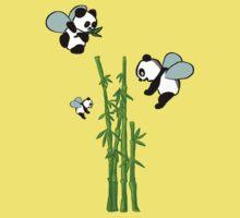 Flying pandas Kids Tee