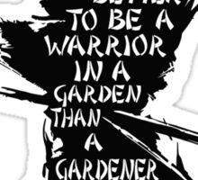 Warrior's Garden Sticker