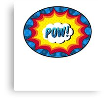 POW! Comic book action Canvas Print