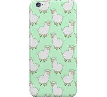 White Alpaca Pattern iPhone Case/Skin