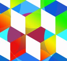 Rainbow color cubes Sticker