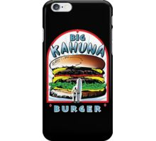 Big KAHUNA Burger - White Background on Black Variant iPhone Case/Skin