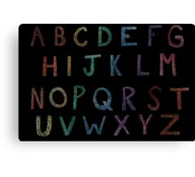 Alphabet Canvas Print