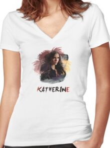 Katherine - The Vampire Diaries Women's Fitted V-Neck T-Shirt