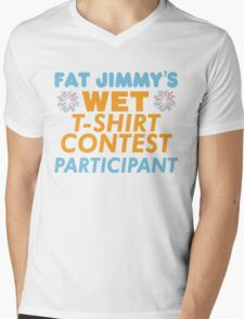 Fat Jimmy's  Mens V-Neck T-Shirt