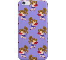Little Boxer Girl Blue Pattern iPhone Case/Skin