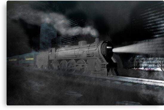 Night train by Carol and Mike Werner
