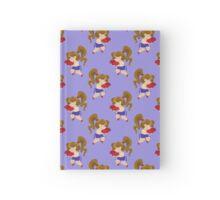 Little Boxer Girl Blue Pattern Hardcover Journal