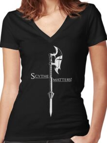 Scythe matters! Women's Fitted V-Neck T-Shirt