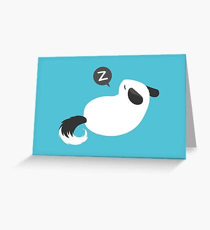 ChinchillazzZ (Silver) Greeting Card
