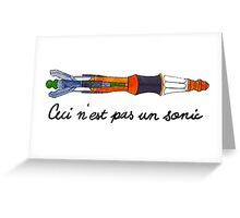 Ceci n'est pas un Sonic Screwdriver Greeting Card