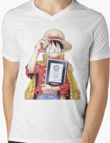 Luffy one piece Mens V-Neck T-Shirt