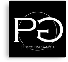 Premium Gang Clothes (White Logo) Canvas Print
