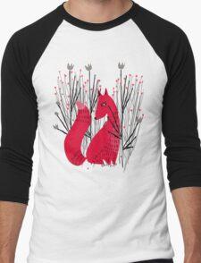 Fox in Shrub Men's Baseball ¾ T-Shirt