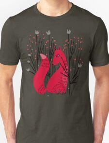 Fox in Shrub Unisex T-Shirt