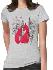 Fox in Shrub Womens Fitted T-Shirt