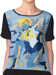 Soldier of the Heavens & Sky Chiffon Top