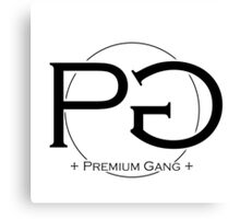 Premium Gang Clothes (Black Logo) Canvas Print