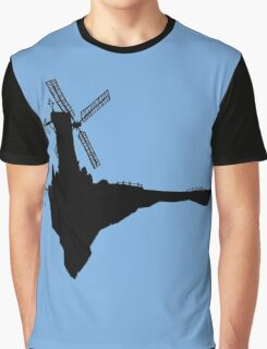 Feel Good Inc. Windmill Silhouette (Gorillaz) Graphic T-Shirt