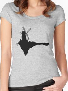 Feel Good Inc. Windmill Silhouette (Gorillaz) Women's Fitted Scoop T-Shirt