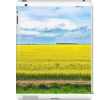 Yellow Canola Field landscape photography iPad Case/Skin