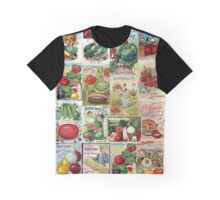 Vintage Fruits and Veggies Graphic T-Shirt