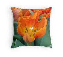 tulip in the garden Throw Pillow